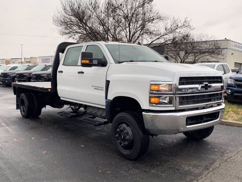 New 2019 Chevrolet Silverado MD Work Truck 4WD Flatbed Truck